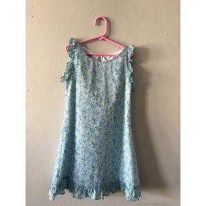 Luli & Me | Smocked Blue Floral Dress
